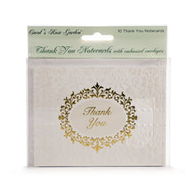 Load image into Gallery viewer, Wedding Ornate Glitter Thank You Card Set