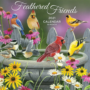 Feathered Friends 2021 (Item #9372W) - 12x12 Wall Calendar
