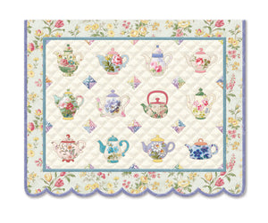 Teapot Quilt Boxed Notecards