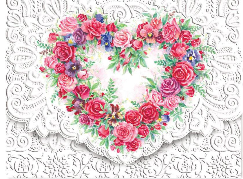 Rose Heart Boxed Notecards