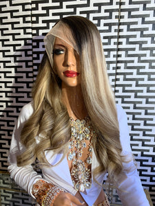Ash blonde BRAZILIAN human hair FULL LACE WIG