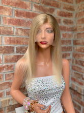 Load image into Gallery viewer, Natural blonde ombré BRAZILIAN human hair FULL LACE WIG