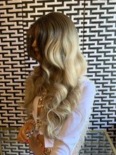 Load image into Gallery viewer, TWO TONE Ash blonde BRAZILIAN human hair FULL LACE WIG
