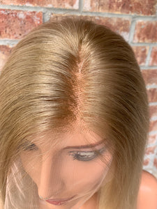 Natural blonde ombré BRAZILIAN human hair FULL LACE WIG