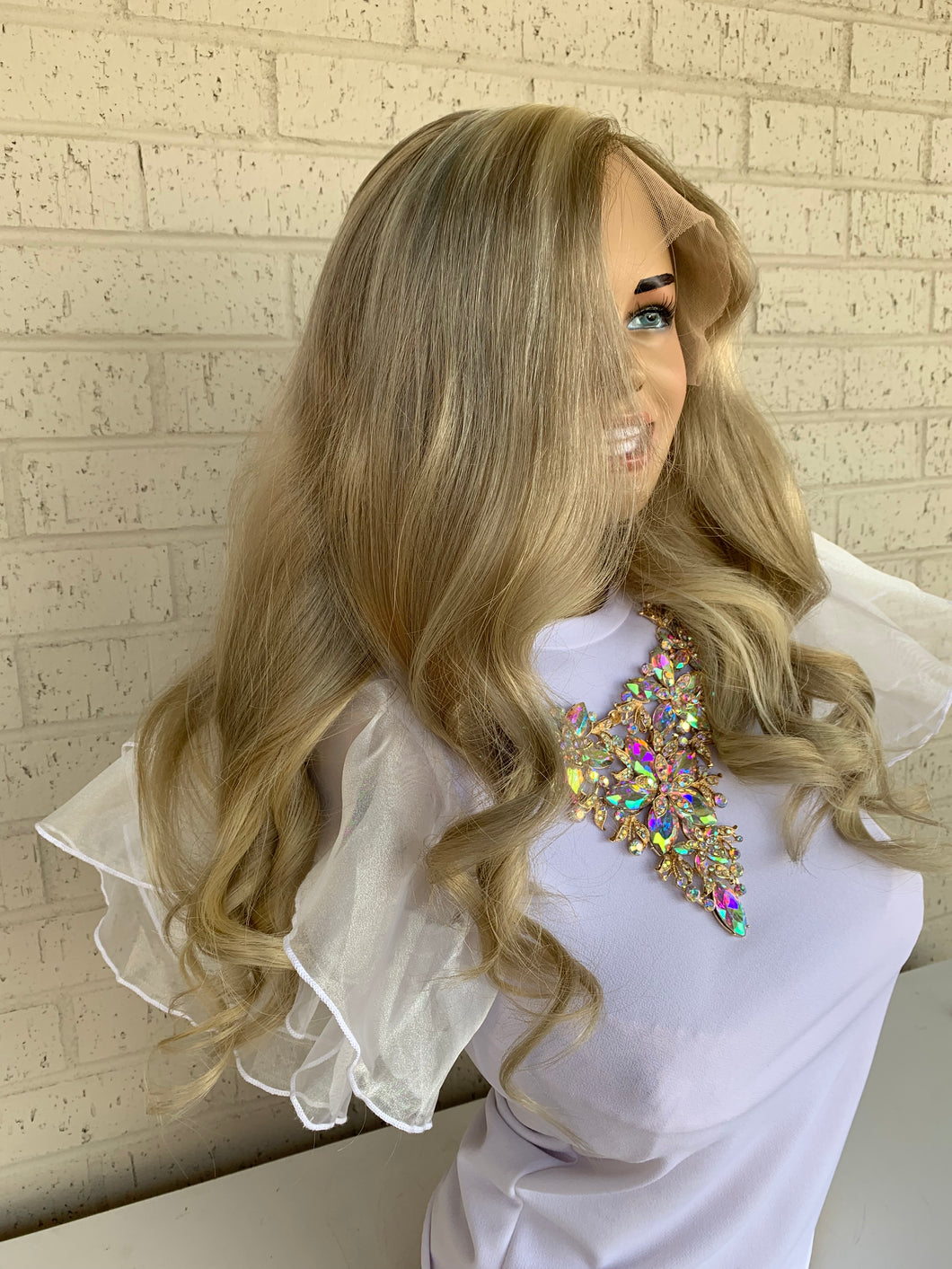 Custom Ash blonde BRAZILIAN human hair FULL LACE WIG