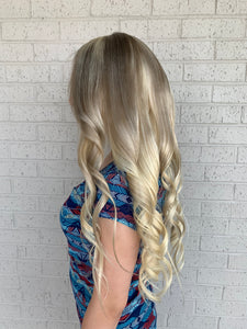 Balayage blonde full lace wig 22""