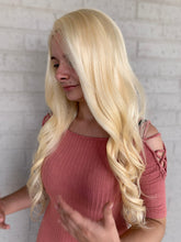 Load image into Gallery viewer, Platinum Blonde Human Hair FULL LACE wig 22""