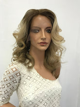 Load image into Gallery viewer, Full lace Wig, Balayage blonde with root, Loose Curl hair, Made with Virgin hair