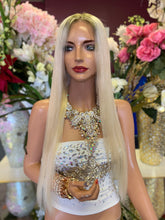 Load image into Gallery viewer, Full lace Wig, Balayage blonde with root, Straight hair, Virgin hair, 22 inches long