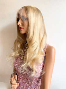 LIMA balayage Blonde FULL LACE wig 18""