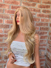 Load image into Gallery viewer, HONEY Blonde Balayage, Lace Front Wig, Loose Curl hair, 22 Inches