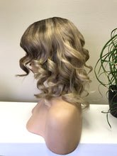 Load image into Gallery viewer, Full lace Wig, Balayage blonde with root, Loose Curl hair, Virgin hair 180% density