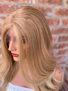HONEY Blonde Balayage, Lace Front Wig, Loose Curl hair, 22 Inches