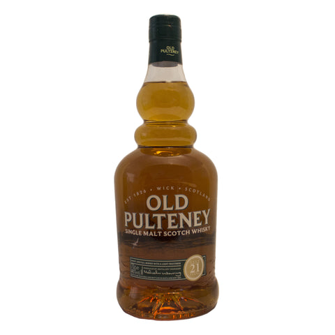 Old Pulteney Single Malt 21 år, ¾ ltr. 46% alkohol