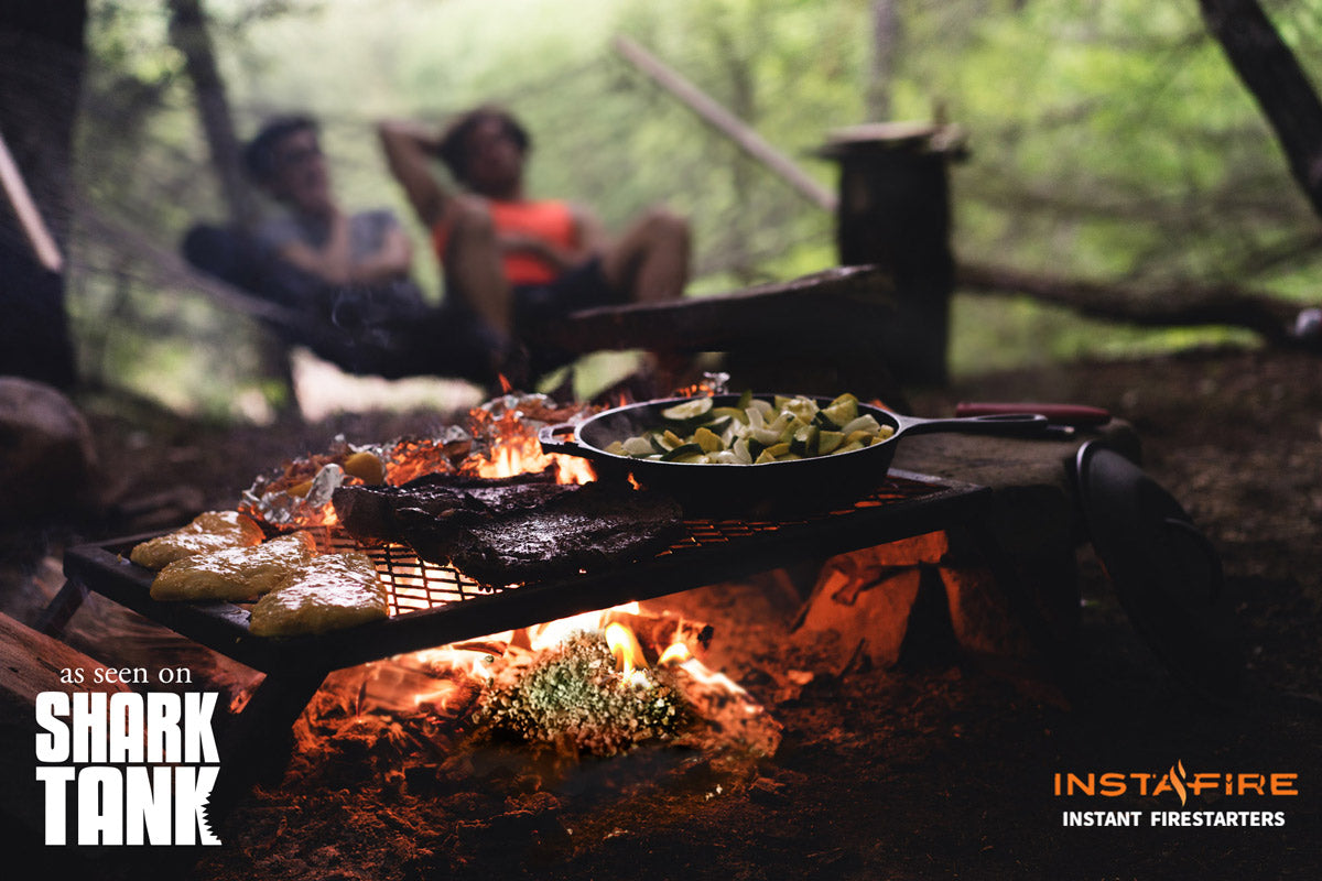 Instafire used to cook a meal while camping