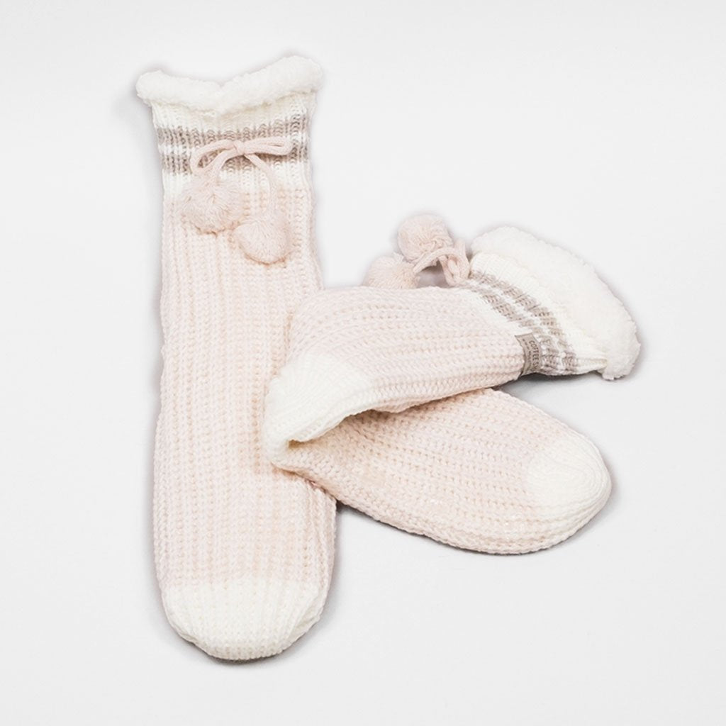Canadiana Lounge Sock - Millennial Pink