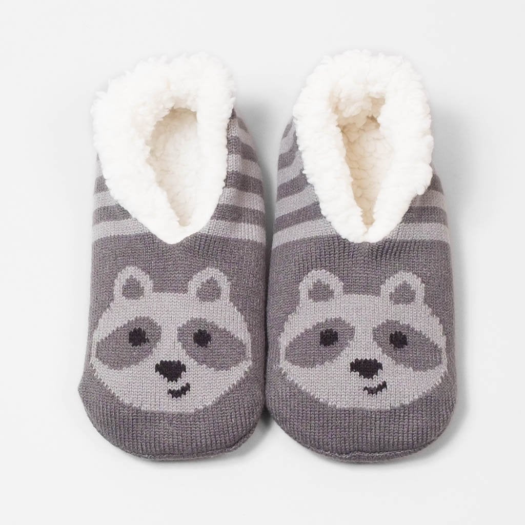 Forest Friend Slipper - Raccoon (Smoked Pearl)