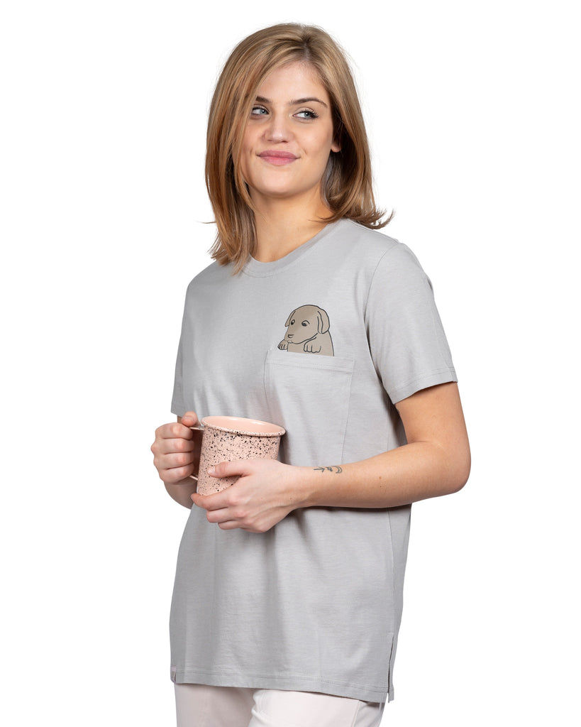 Current Mood Boyfriend T-Shirt - COFFEE LOVER DOG MOTHER