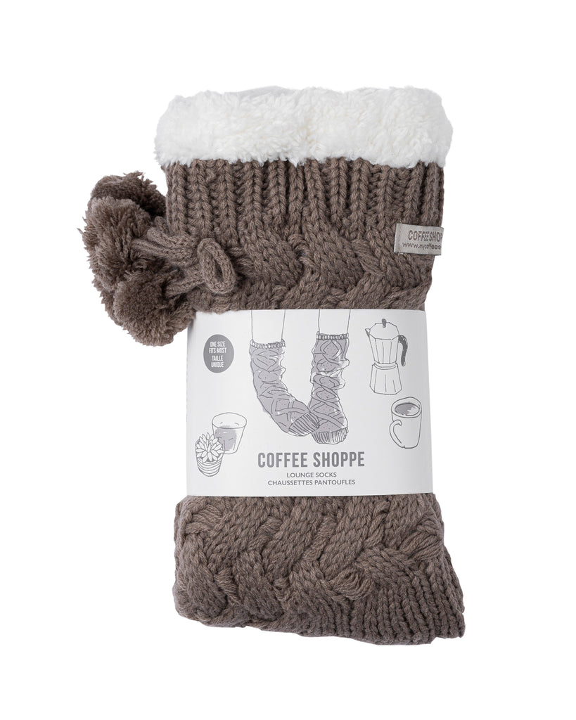 Textured Basket Weave Lounge Socks - Fungi