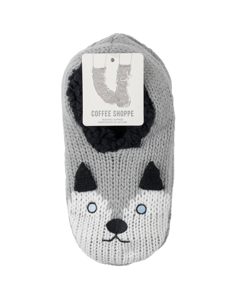 Critter Ankle Slippers - Husky (Wild Dove)