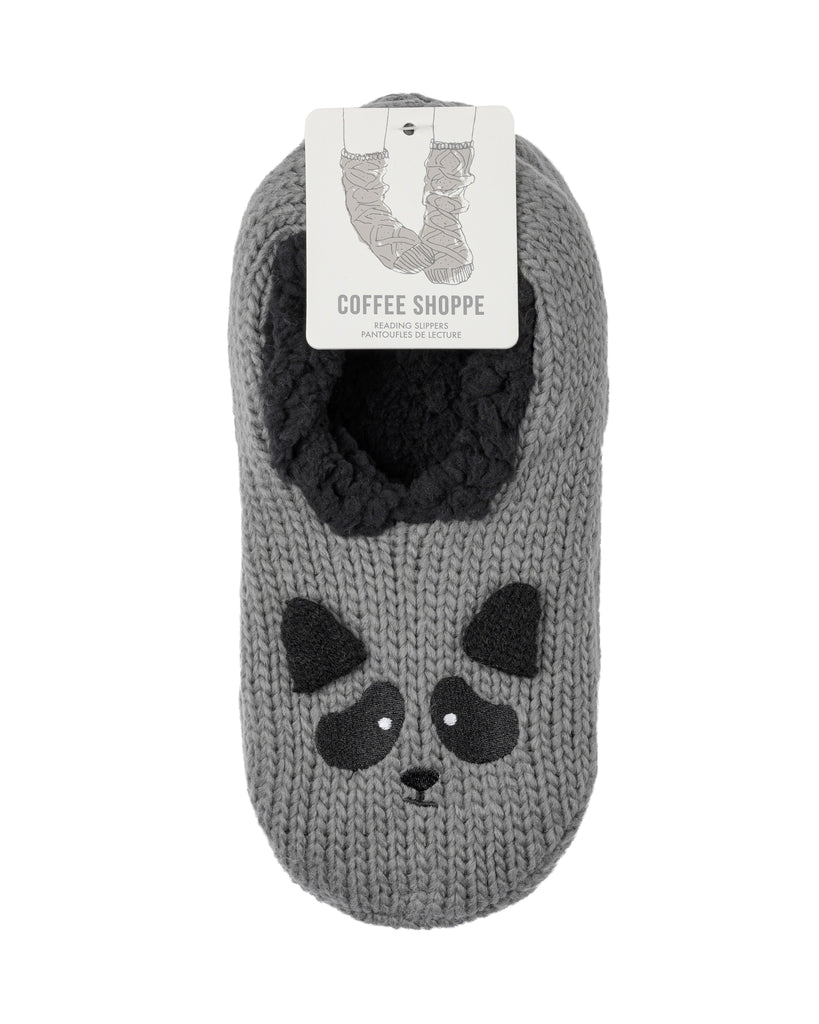 Critter Ankle Slippers - Raccoon (Smoked Pearl)