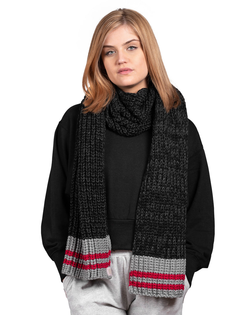 Canadiana Wrap Scarf - Dark Smoked Pearl