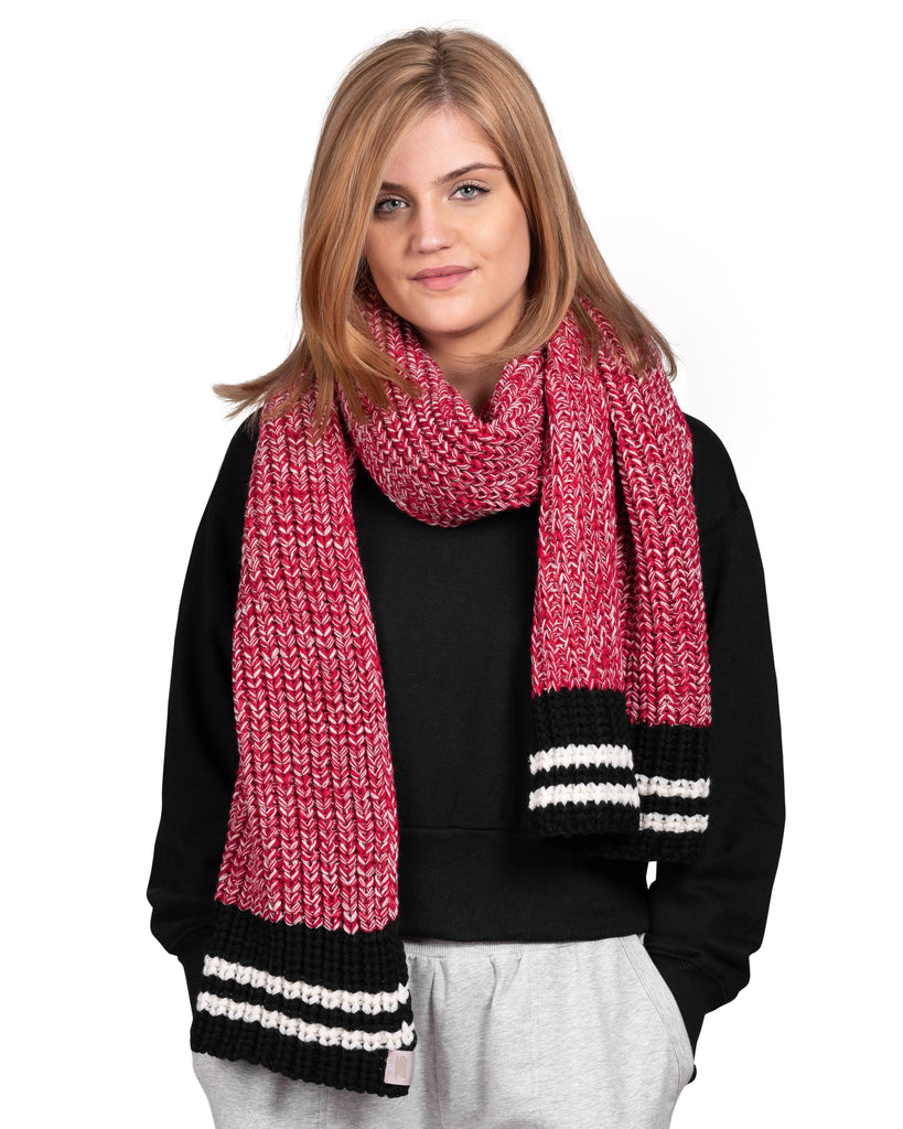 Canadiana Wrap Scarf - Deep Red