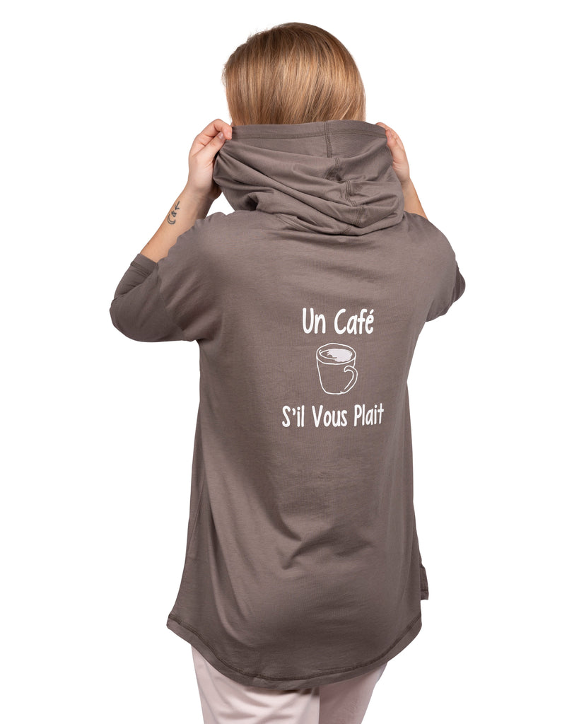 Espress'o' Yourself Sleep Hoody with Kanga Pocket - Un Café S'il vous plait