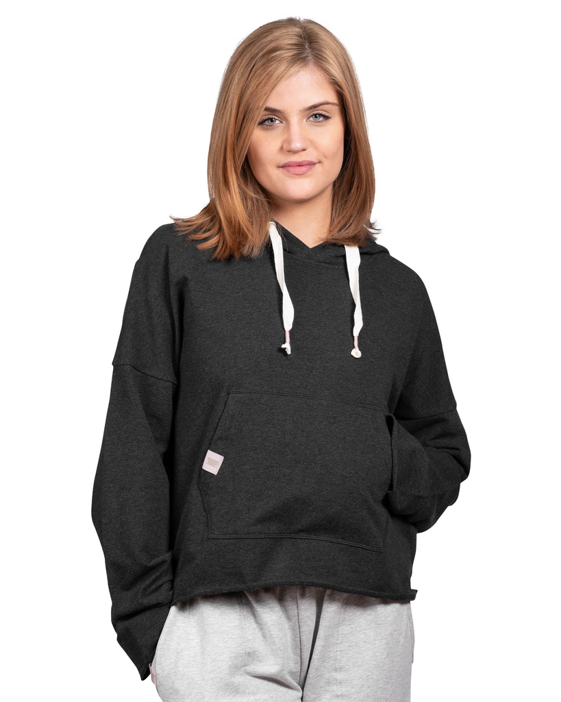 Take-Comfort Lounge Hoody with Kanga Pocket - Charcoal Mix