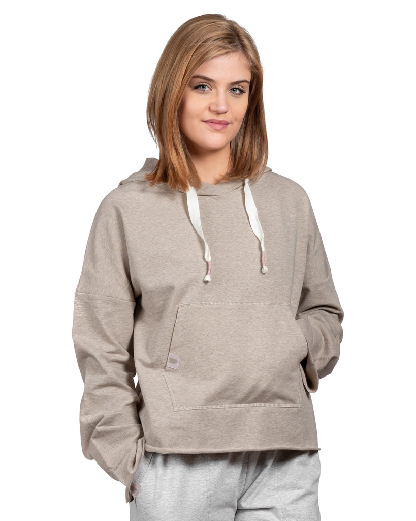 Take-Comfort Lounge Hoody with Kanga Pocket - Silver Cloud Mix