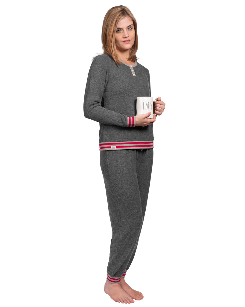 Loungin' Pajama Set - Charcoal Mix