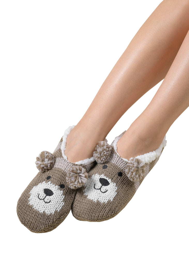 Critter Ankle Slippers - Dog (Fungi)