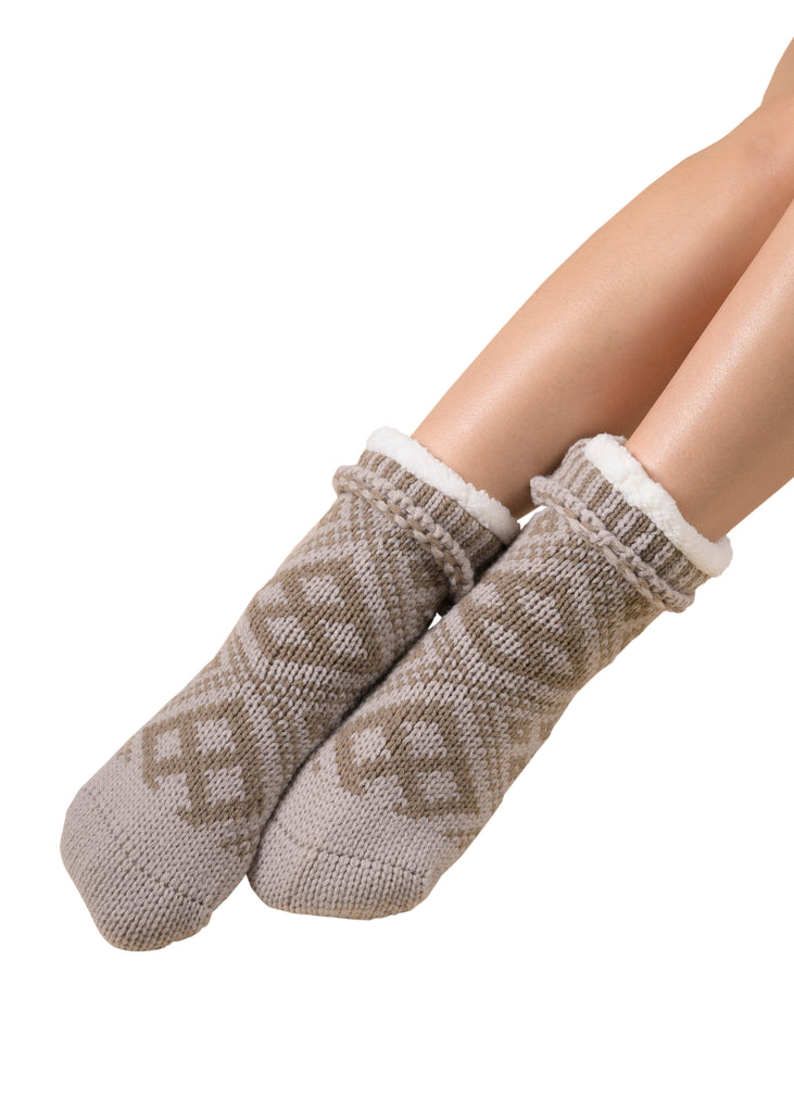 Mukluk Socks - Silver Cloud