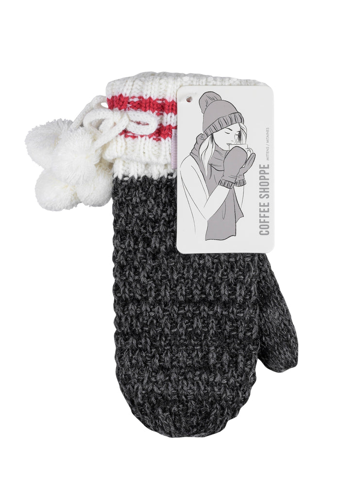 Canadiana Mittens - Dark Smoked Pearl