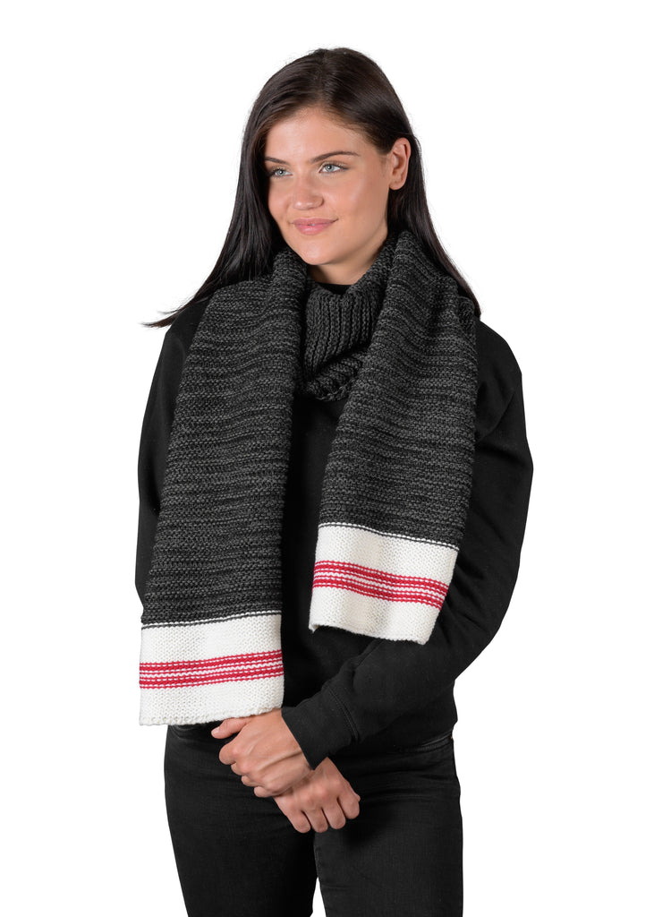Canadiana Knit Scarf - Dark Smoked Pearl