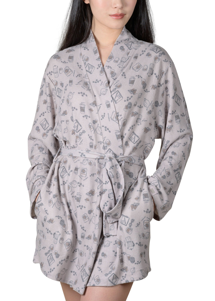 Java and Script Wrap-It-Up Reading Robe - Silver Cloud