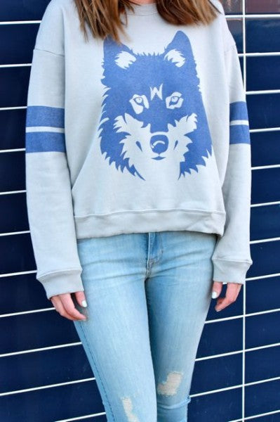 Wildfox Vintage Wolf Sweater, Fidelity Mid Rise Ankle Distressed Denim, Edmonton, Bamboo Ballroom