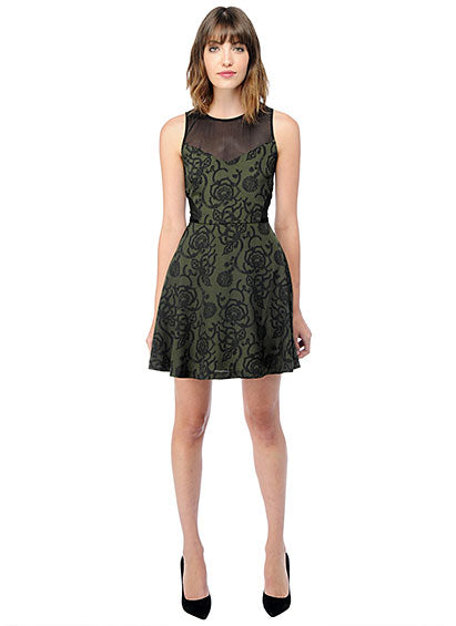 Jack army green holiday party dress