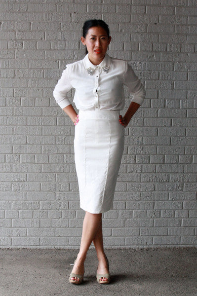 outfit idea for Edmonton's Diner en Blanc all white dress code