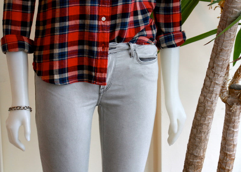 levi's plaid button up with levi's light grey mid rise jeans edmonton bamboo ballroom