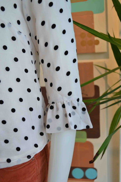 Darling polka dot top from Bamboo Ballroom in Edmonton, Alberta, Canada