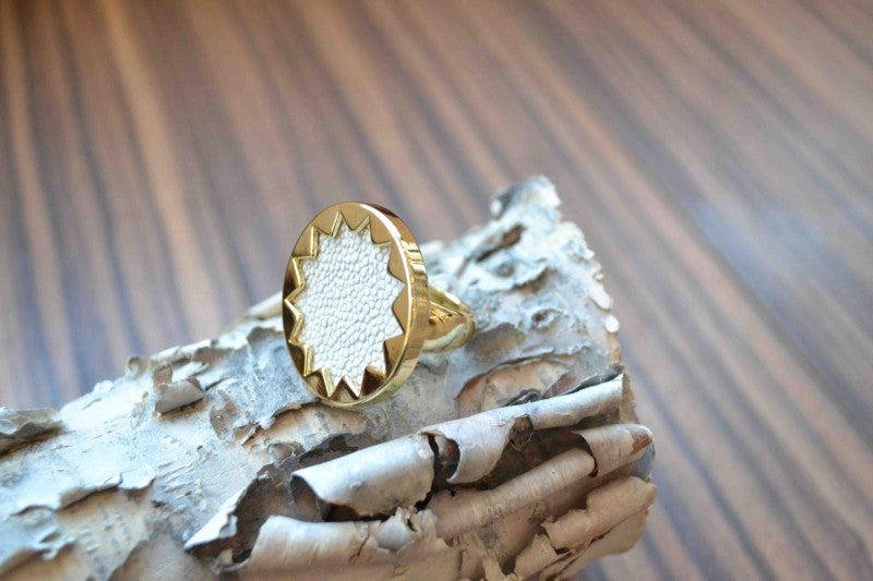 """House of Harlow 1960 sunburst ring from Bamboo Ballroom in Edmonton, Alberta,Canada"""