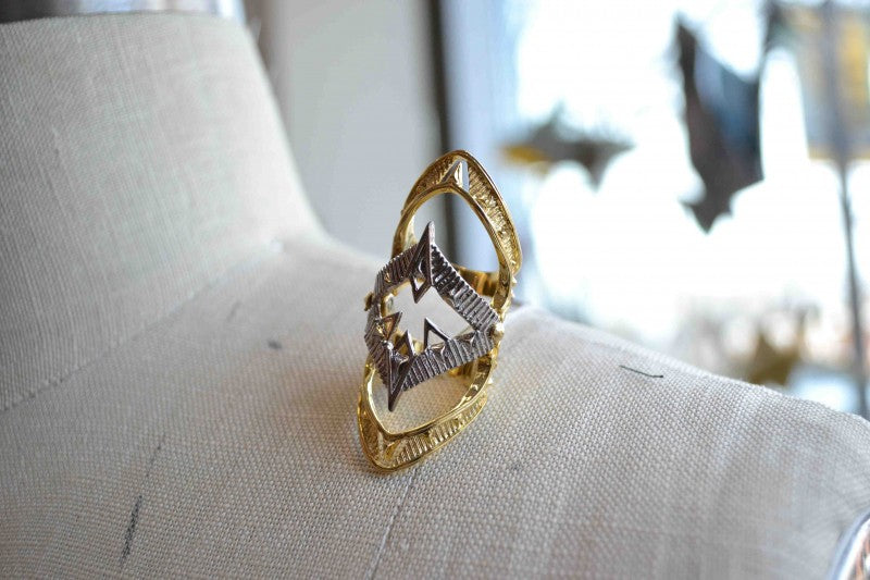 """House of Harlow 1960 knuckle ring from Bamboo Ballroom in Edmonton, Alberta, Canada"""