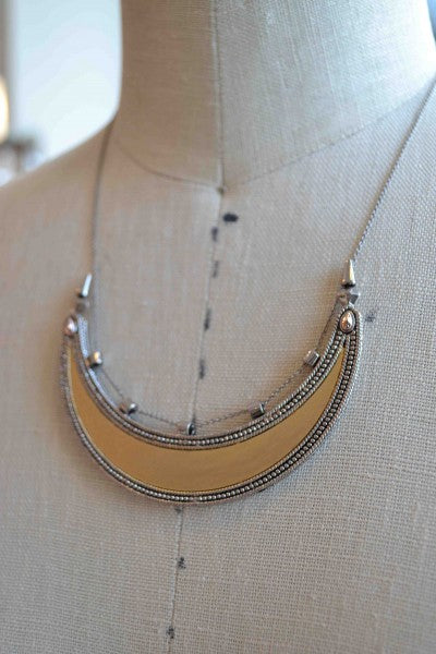 """House of Harlow 1960 metal plate necklace from Bamboo Ballroom in Edmonton, Alberta, Canada"""