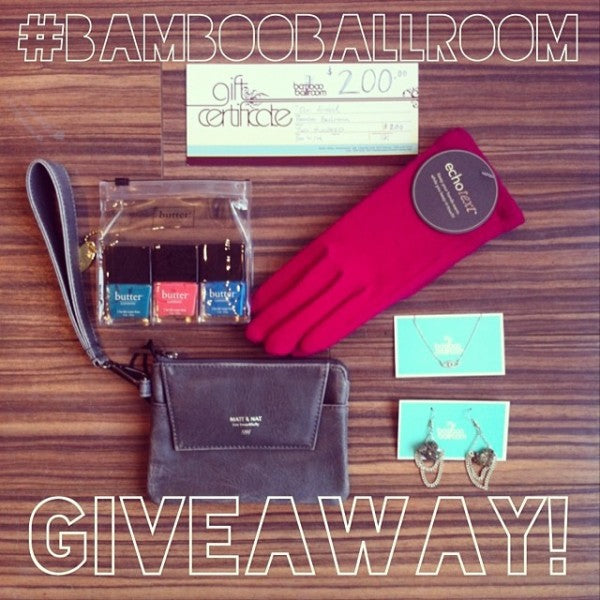 january giveaway at Bamboo Ballroom