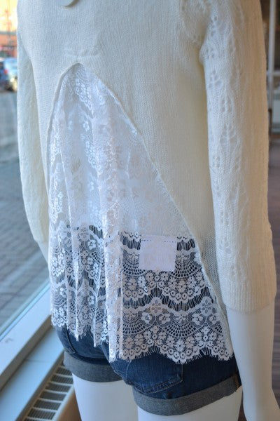 """Kersh knit lace top from Bamboo Ballroom in Edmonton, Alberta, Canada"""