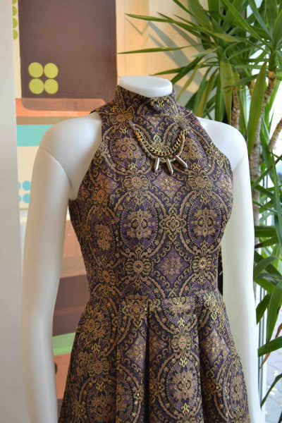 BB Dakota brocade turtleneck dress from Bamboo Ballroom in Edmonton, Alberta, Canada