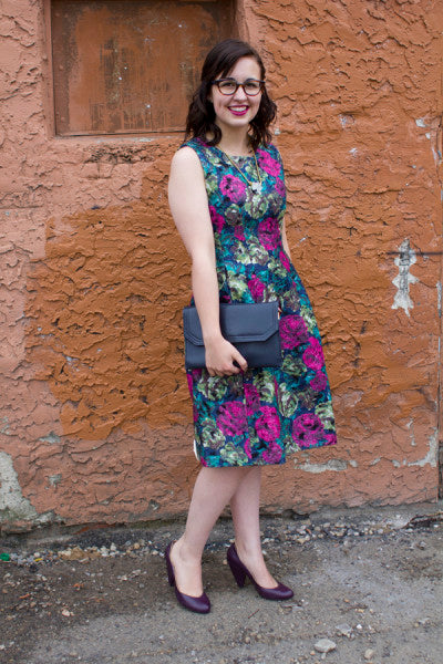 Pink Martini floral dress from Bamboo Ballroom in Edmonton, Alberta, Canada