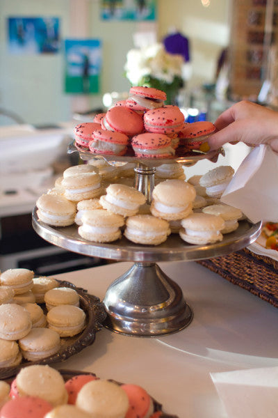 Duchess macarons at the Vintage Pop Up Shop at Bamboo Ballroom in Edmonton, Alberta, Canada