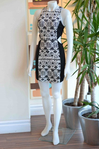 """YA aztec cut out dress from Bamboo Ballroom from Edmonton, Alberta, Canada"""
